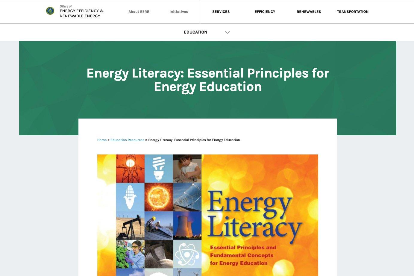 Energy Literacy Framework